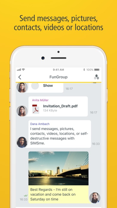 SIMSme Private screenshot two