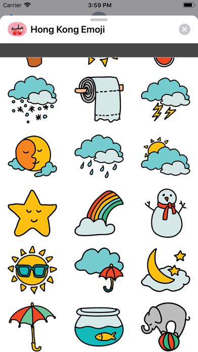 Screenshot of Hong Kong Emoji Stickers App