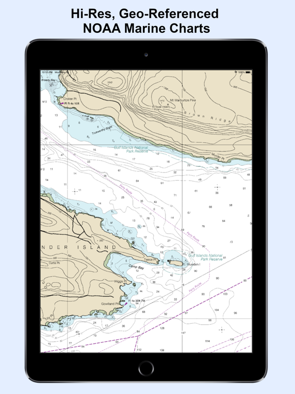NOAA Nautical Charts & Map Screenshots
