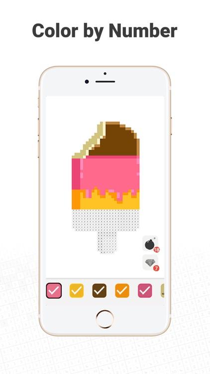 Dino Fun - Pixel Coloring Book