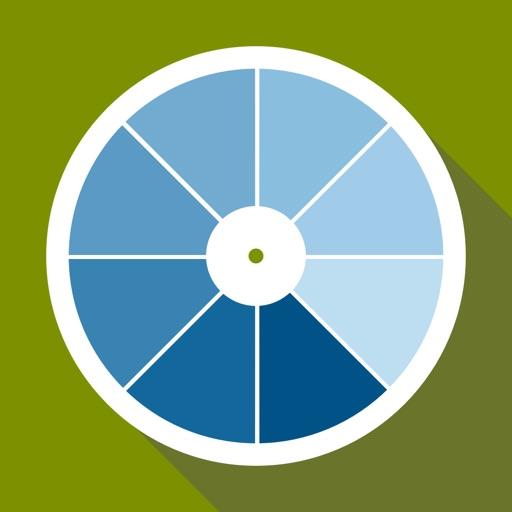 Ncs color chart. 3D fan deck icon