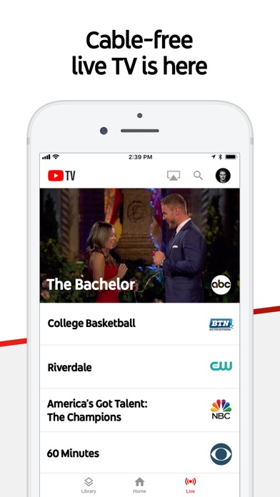 YouTube TV app image