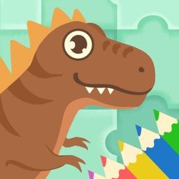 趣恐龙-拼图填色游戏