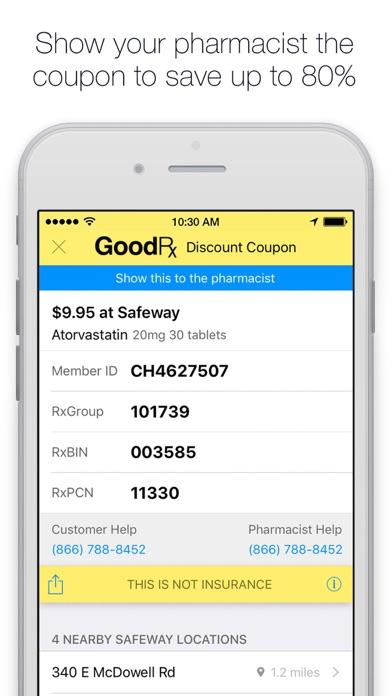 3816571fb5ca GoodRx Save On Prescriptions screenshot  GoodRx Save On Prescriptions  screenshot ...
