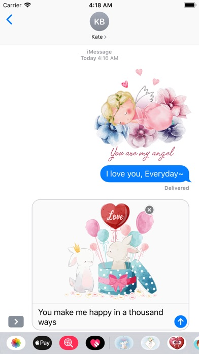Fairytale Love Stickers screenshot 5