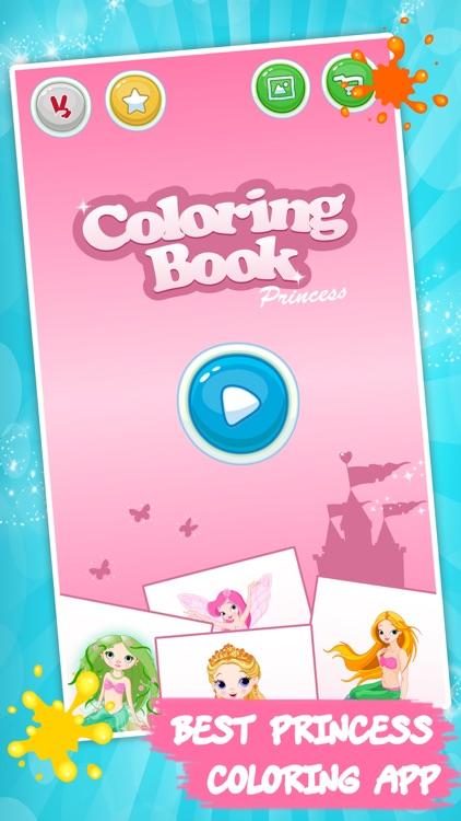 Best coloring book - Princess screenshot-3