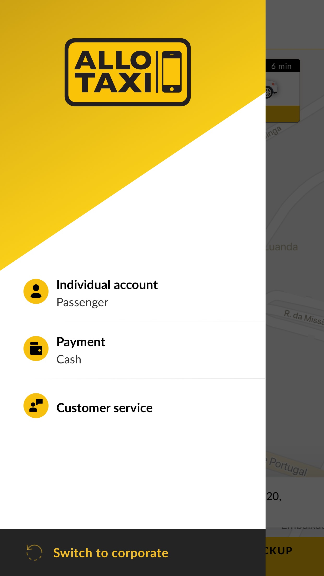 Allo Taxi Angola Screenshot