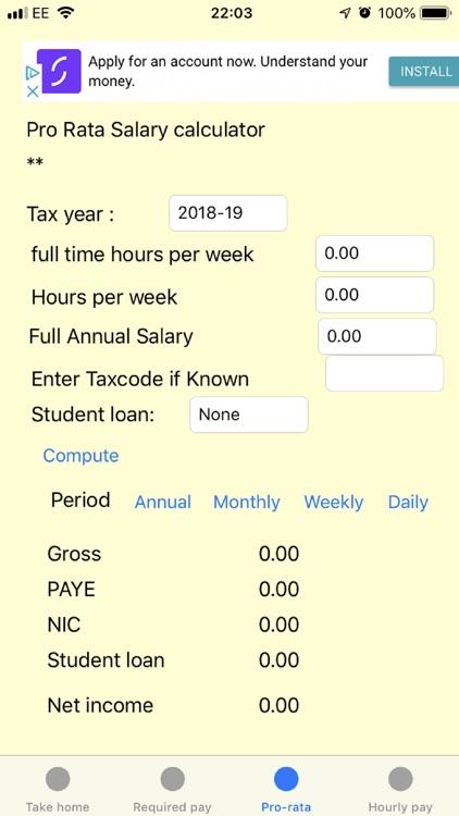 UK Salary Calculator