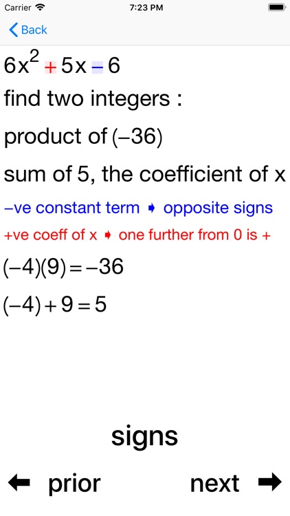 Quadratic Factoring screenshot-3