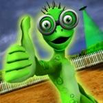 Scary Green Grandpa Alien