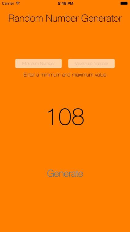 Random Number Generator - Fun!