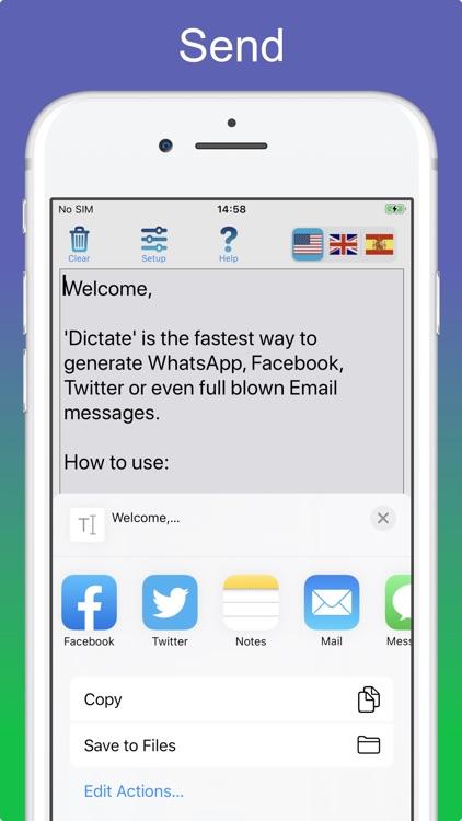 Dictate Pro - Speech to text screenshot-5