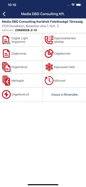 Opten Cégtár céginformáció on the App Store ae48f89535