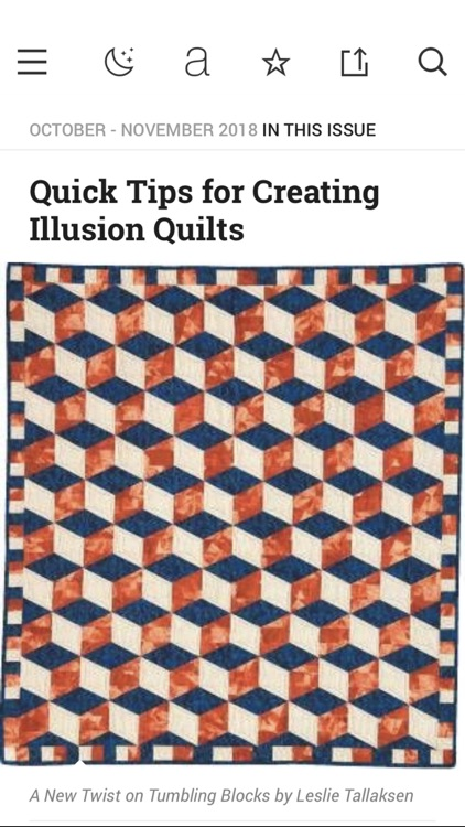 McCall's Quick Quilts Magazine screenshot-2