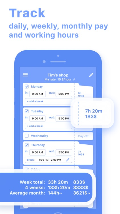 Work Hours & Pay Calculator