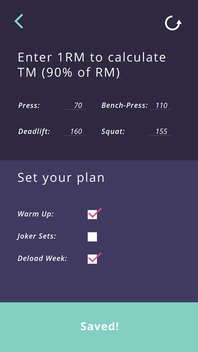 5-3-1 workout calculator screenshot 4