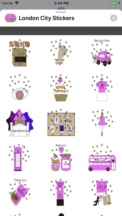 Screenshot for London City Stickers in United States App Store