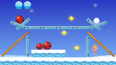 Snowball Fight Puzzle Screenshot on iOS