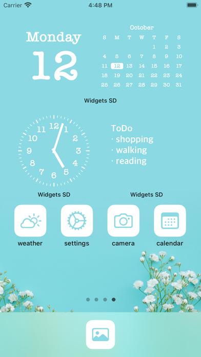 写真ウィジェット 時計カレンダー - Widgets SDのおすすめ画像2
