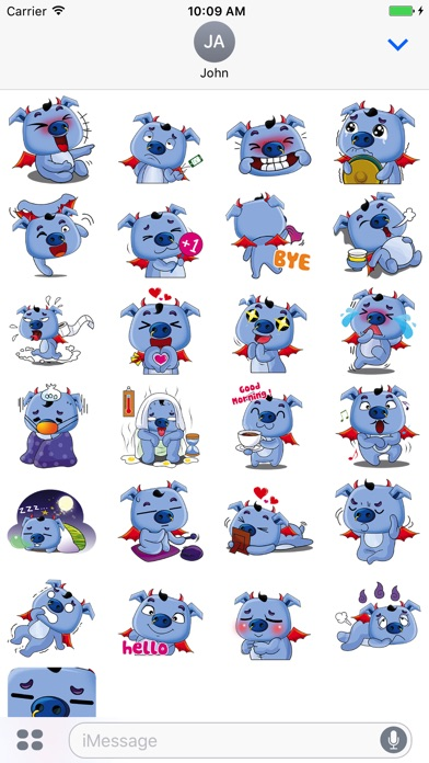 Screenshot for Love Pig Sticker Pack in United States App Store