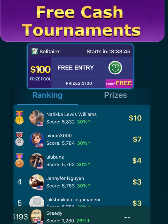 Solitaire Clash: Win Cash screenshot 9