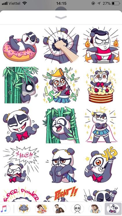 Cute Panda Pun Funny Stickers