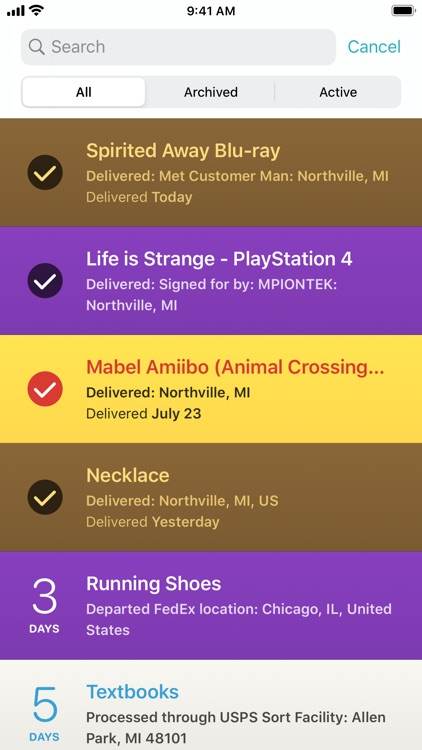 Deliveries: a package tracker screenshot-5