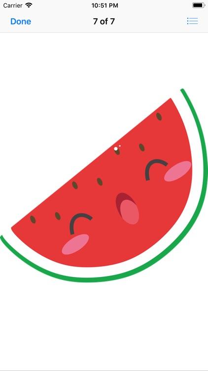 Happy Fruit Stickers screenshot-7