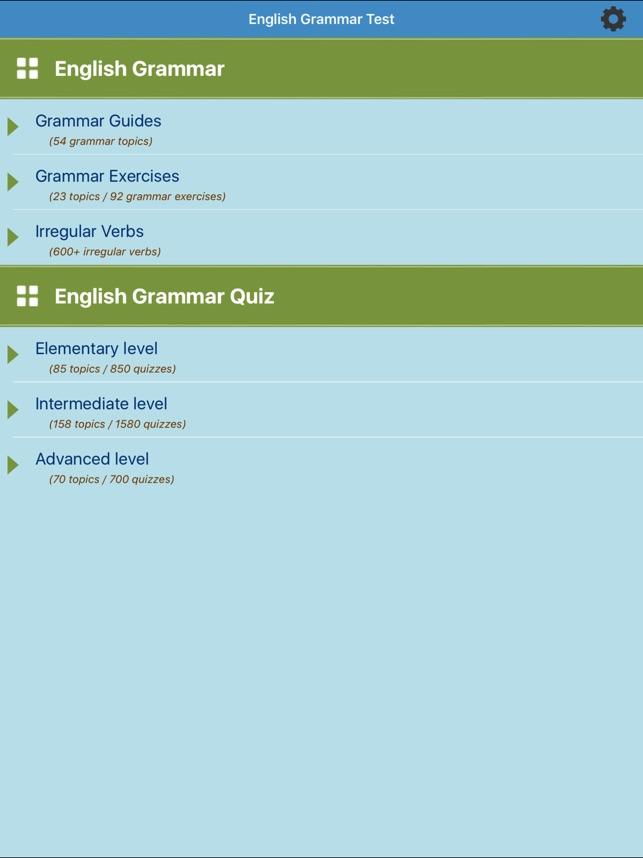 English Test: Grammar on the App Store