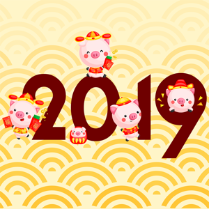 2019 Happy Chinese Pig Year - Stickers app