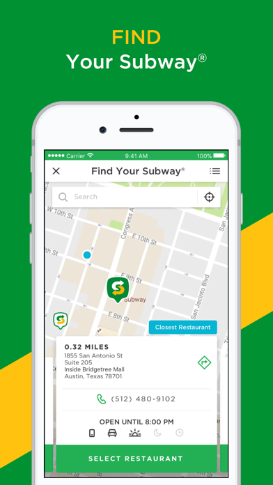 download SUBWAY® apps 1