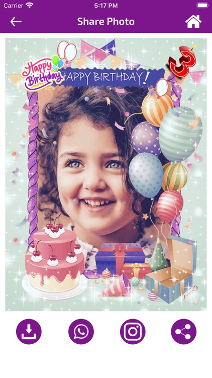 Birthday Photo Frames - Editor screenshot-4