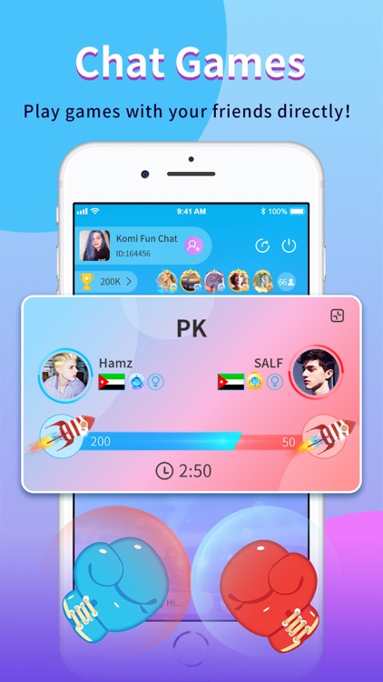 Komi-Group Voice Chat Rooms screenshot-3