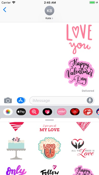 Screenshot for Happy Valentines Day Love Pack in United States App Store