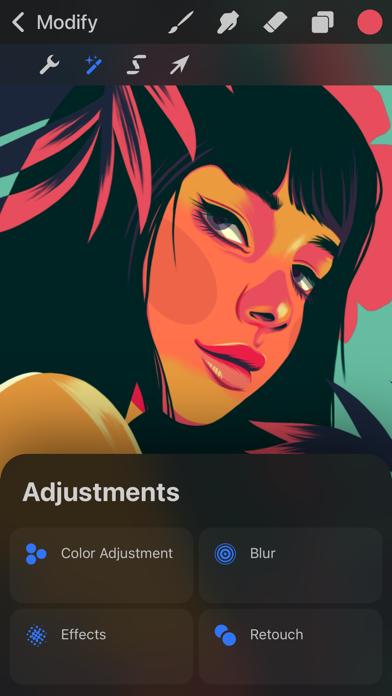 Screenshot of Procreate Pocket App
