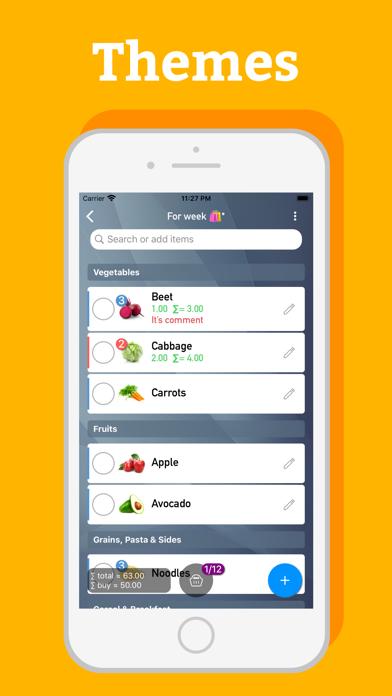 Grocery Shopping List - mLife Screenshot