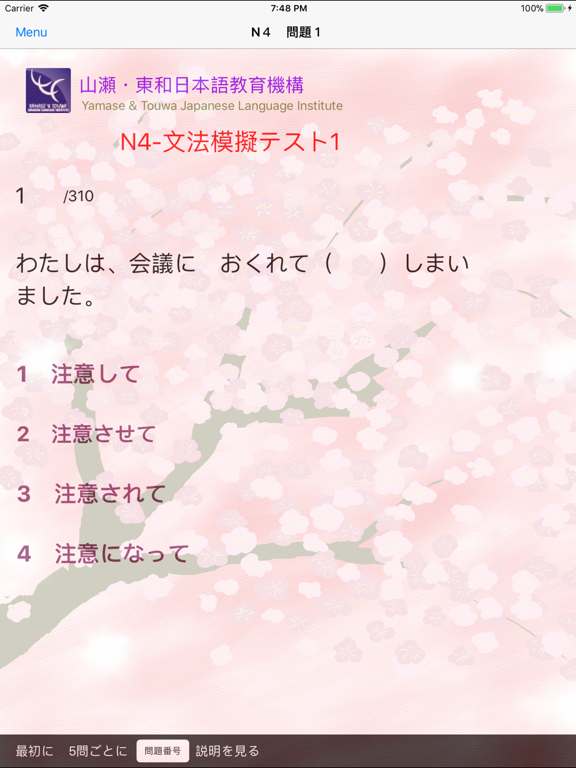 N4-文法問題練習 screenshot 12