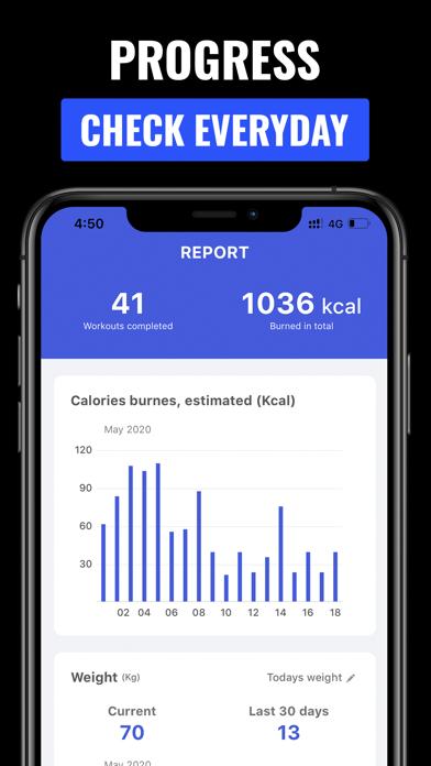 自宅での30日間のフィットネス減量チャレンジアプリのおすすめ画像7