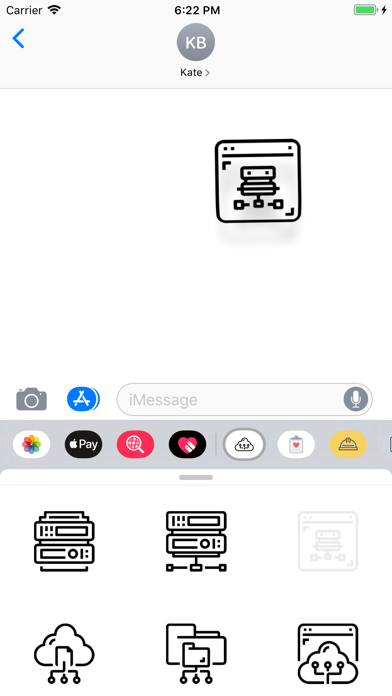 Network Database Stickers app image