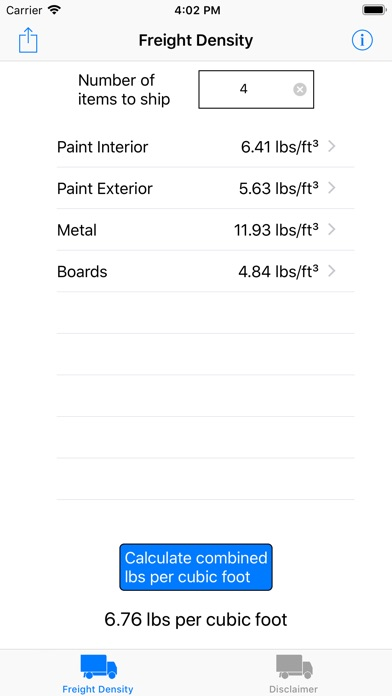 Screenshot for Freight Density in Venezuela App Store