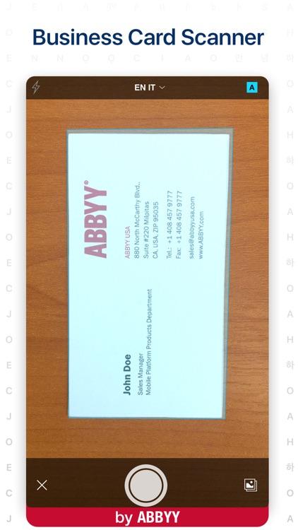ABBYY Business Card Reader Pro screenshot-0