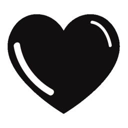 Black Hearts Stickers & emoji