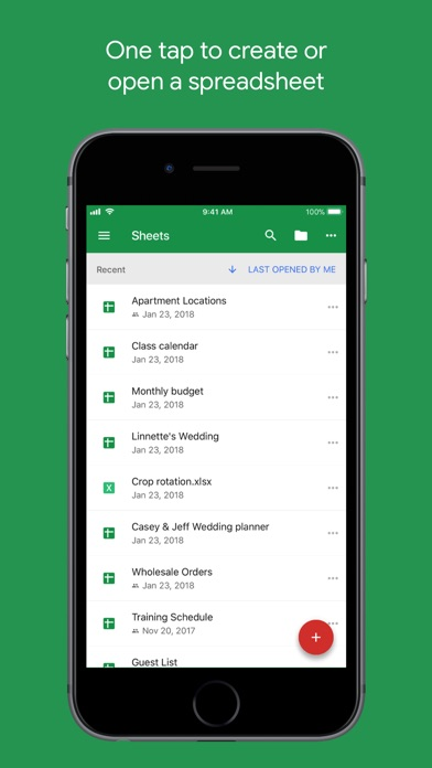 download Google Sheets apps 2