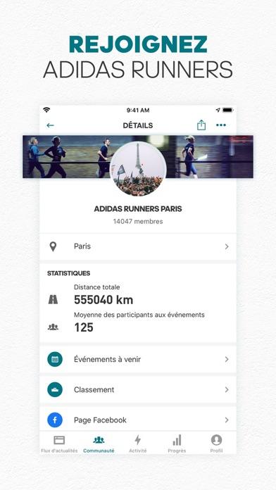 adidas Running par Runtastic iphone captures décran