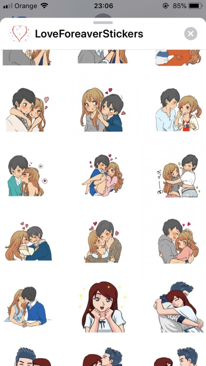 Love Forever Stickers