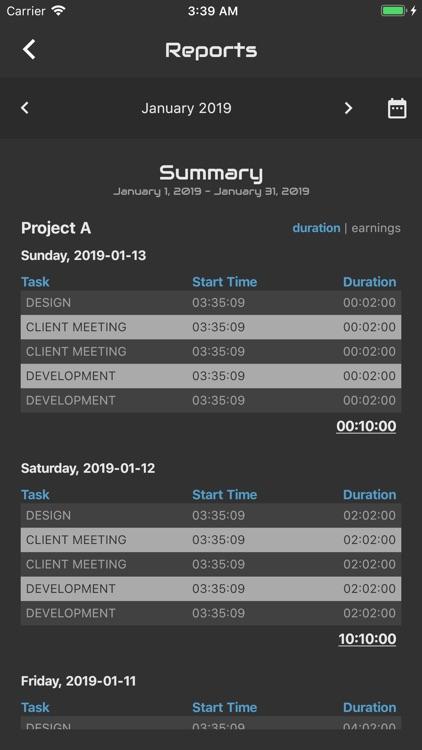 Agile Log - Time Tracker screenshot-4