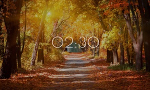 Autumn Clock HD