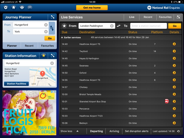 NationalRailEnquiries for iPad