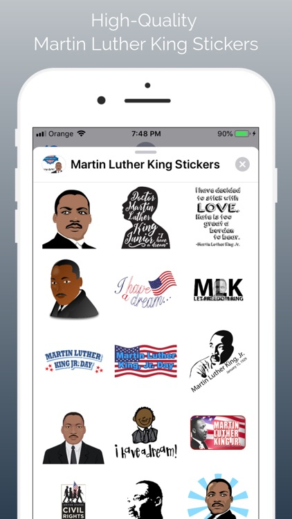 Martin Luther King Sticker