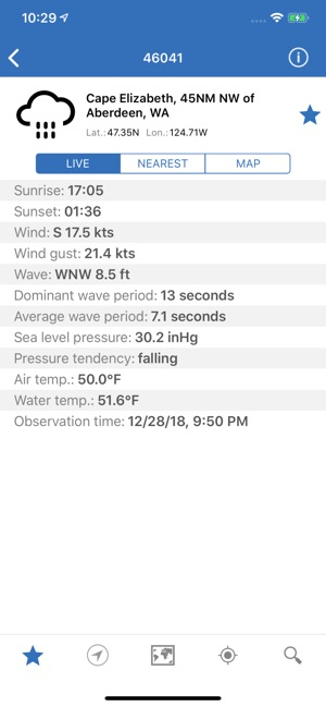 NOAA Buoys Live Marine Weather on the App Store